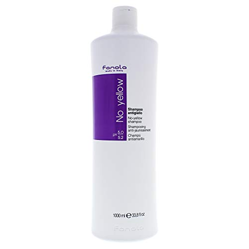 Fanola No yellow Silber-Glanz-Shampoo Anti-Gelbstich, 1000 ml