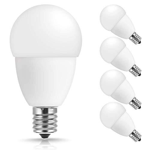 E17 LED Bulb, JandCase 5W G14 Light Bulbs, 3000K Soft White, 550LM, 50W Equivalent Bulbs for Home Lighting, Ceiling Fan, Living Room, E17 Intermediate Base, Not Dimmable, 4 Pack