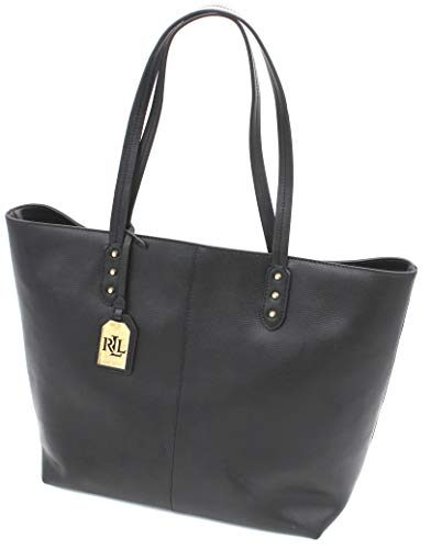 Ralph Lauren Dixon Teena Medium Leather Tote (Black)