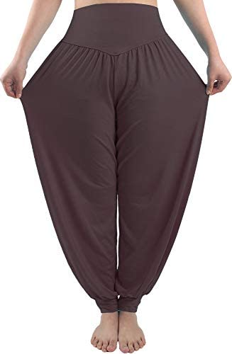 fitglam Women s Soft Modal Yoga Harem Pilates Pants Long Baggy Sports Workout Dancing Trousers product image