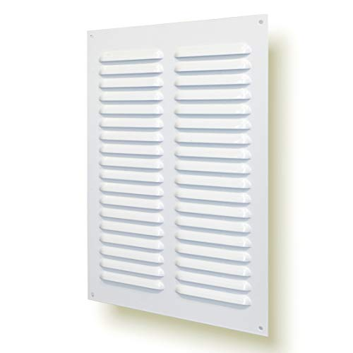 20 x 30cm Rejilla de ventilación metálica con red para protección contra insectos