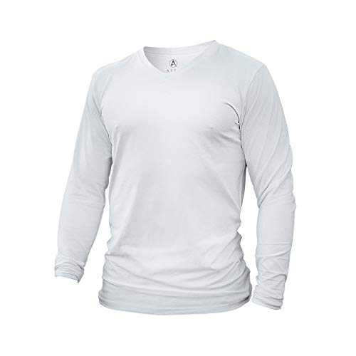 ATEK Dry Fit Long Sleeve Shirt | Moisture Wicking T Shirt for Running, Workout, and Casual Wear White