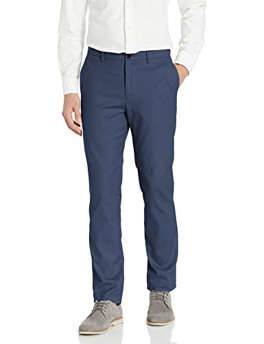 Calvin Klein Men's Modern Stretch Chino Wrinkle Resistant Pants, Mid Storm, 32x32