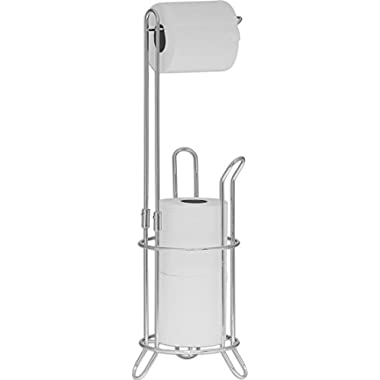 SImpleHouseware Bathroom Toilet Tissue Paper Roll Storage Holder Stand, Chrome Finish