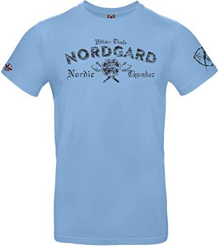 NORDGARD Viking Shirt TORDEN, Himmelblau, XL