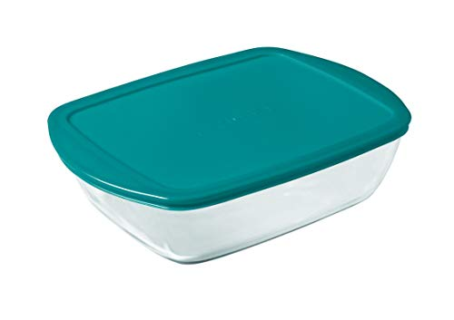 Pyrex Cook & Store Glass rectangular Dish high resistance with lid 28x20x8 cm