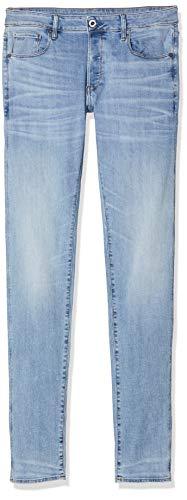 G-STAR RAW 3301 Slim Fit Jeans, Light Indigo Aged 8968-8436, 30W / 30L para Hombre