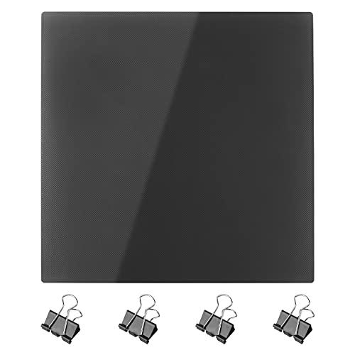 Cnloyua Piattaforma per Stampante 3D , Piastra in Vetro Riscaldata con Rivestimento Microporoso per Stampanti 3D di Ender-3 , Pro , Ender 3 V2 , Ender-5 , Pro (235 x 235 x 4 mm)