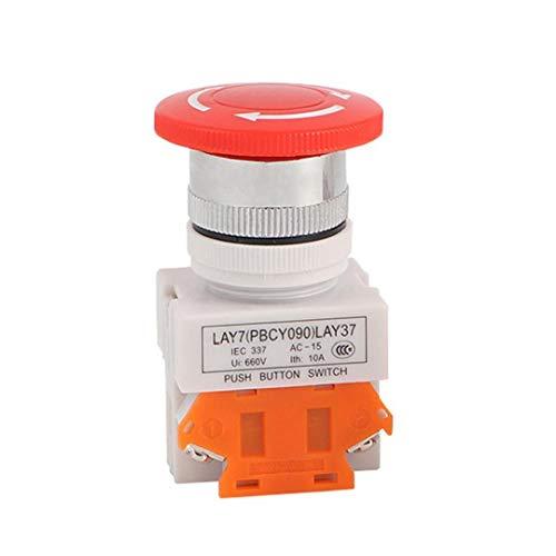 Not-Aus-Knopf, Red Mushroom Cap Schalter Ausstattung Aufzug Aufzug verriegelnd Self Lock