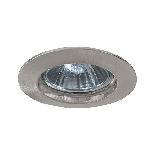 Paulmann 5796 Einbauleuchte Premium Line Einbaustrahler Eisen gebürstet Einbaulampe max. 1x50W Einbaulicht 230V Spot GU10 Deckeneinbaustrahler Außen Deckenleuchte, Aluminium, Silber