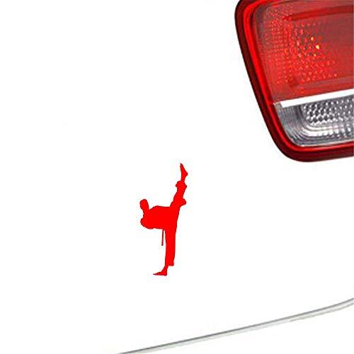 sticker carro Decoración Kung Fu Chino Parachoques Ventana Calcomanía Puerta Trasera Camión Leyenda Maestra Karate Taekwondo 6X14 Cm Para Coche Portátil Ventana Pegatina