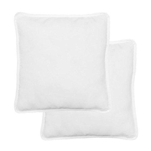 Zora Walter - Juego de 2 cojines cuadrados (80 x 80 cm), color blanco