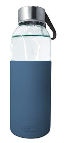 Nerthus FIH 392 400 ml glazen fles Turquise.