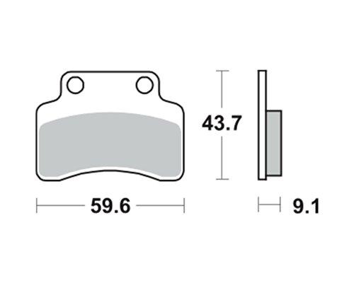 Bremsbeläge TRW MCB694EC für Keeway RY-8 50 SP, Sport Evo 07- (vorne)