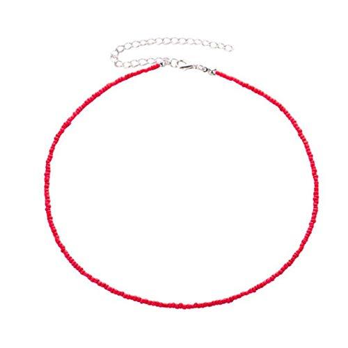 Sperrins ethnische Perlenkette Halskette Kette weibliche Ornamente, rot