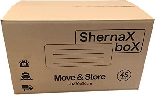 Cajas De Mudanzas Carton 60X40X40 Marca Shernax