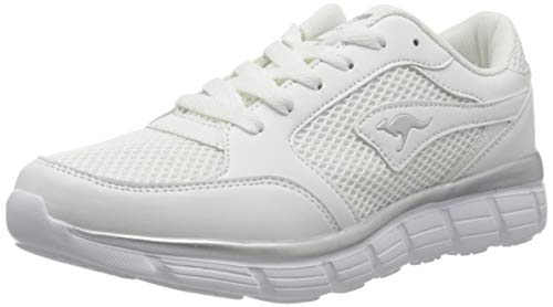 KangaROOS Damen KR-Rimble Sneaker, White/Vapor Grey, 38 EU