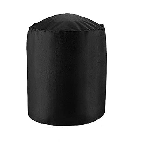 SZBLYY Funda Barbacoa Cubierta del horno de la cubierta de la barbacoa negra de la cubierta de la cubierta de la barbacoa negra de la cubierta de la barbacoa con cuatro cubiertas de hebilla de la esqu