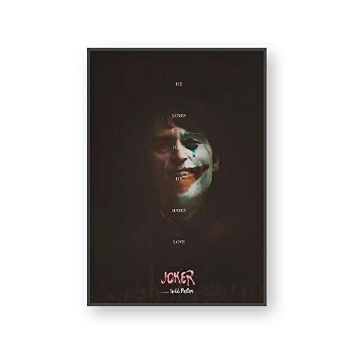 Die Joker Wandkunst Leinwand Malerei Wanddrucke Bilder Film Joker Joaquin Für Studie Home Decor Wasserdicht40x60cm(Kein Rahmen)