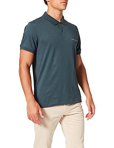 Tommy Hilfiger Clean Jersey Slim Polo Camisa, Lago Místico, M para Hombre