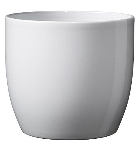 Testrut Blumentopf, Keramik, rund, Weiß, glänzend, Ø ca. 19 cm, Weiß, Durchmesser ca. 19 cm, Höhe ca. 18 cm