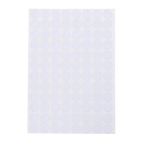VORCOOL El Agujero Impermeable del Tornillo 96pcs / Sheet Cubre Las Etiquetas engomadas de los Casquillos para Las Etiquetas de los Muebles