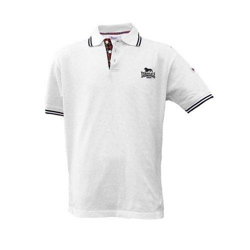 Lonsdale London Polo Shirt Bedford weiß/schwarz Gr.S