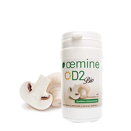 Oemine Organic Vitamin D2, 60 Capsules, 120 g