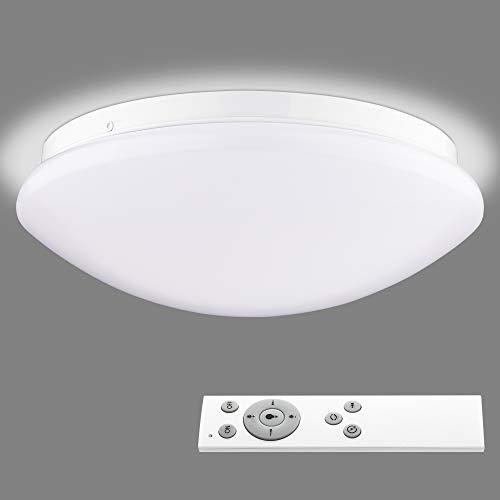 Navaris Lámpara LED de Techo Regulable - Iluminación Redonda Ø 26 CM con bajo Consumo Mando a Distancia y Cambio de Temperatura de Color - Blanco