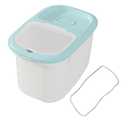 UNBER Recipientes de almacenamiento de alimentos secos herméticos para arroz, sin BPA, dispensador de contenedor sellado de PP con pico vertedor, taza medidora para harina de cereales y avena workable