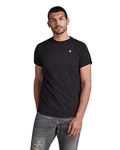 G-STAR RAW Lash Relaxed Fit T-Shirt, Nero (Dk Black B353-6484), XXS Uomo