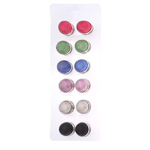 Preisvergleich Produktbild Supvox Magnetknopf Brosche Strass Schal Brosche Verschluss Hijab Pin für Frauen Damen 12pcs (zufällige Farbe)