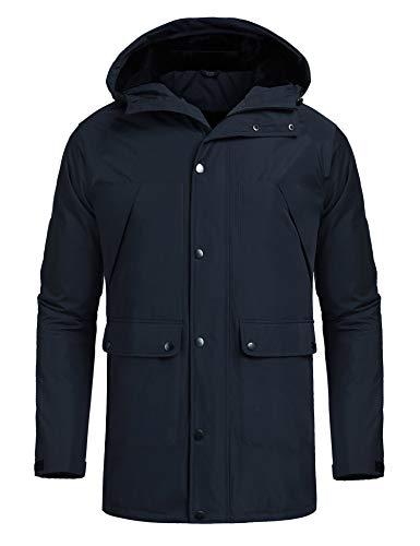 MAXMODA Herren Skijacke, Warm Gefüttert Jacke, Komfortable Regenjacke Wasserdicht