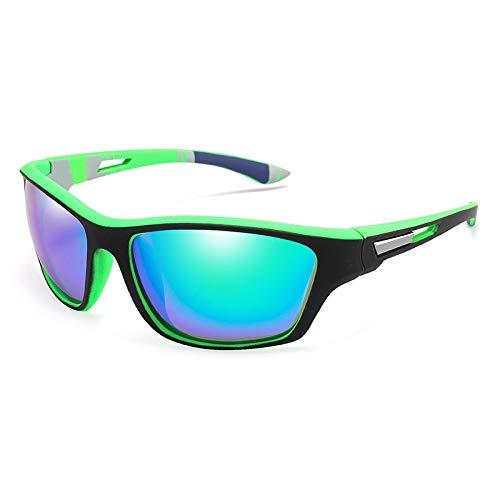 NJJX Gafas De Sol Polarizadas Para Hombre, Deportes Al Aire Libre, Gafas De Sol Para Conducir, Gafas De Sol, Protección Uv, Gafas Para Hombre, Espejadas C2Green