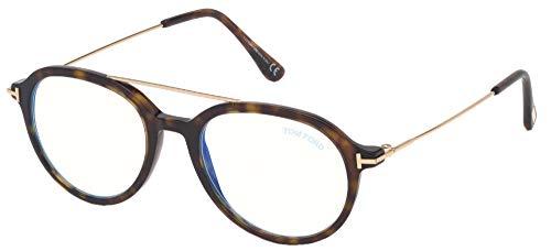 Tom Ford Gafas de Vista FT 5609-B BLUE BLOCK Gold Havana 51/19/145 unisex