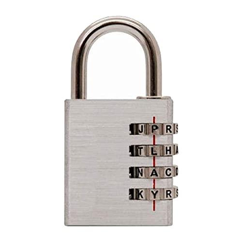 HDHUIXS Ajuste su propio bloqueo de combinación de palabras con cerradura de puerta de acero endurecida de acero al aire libre para cobertizos, unidad de almacenamiento, garaje, cerca, lengüet
