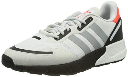 adidas ZX 1K Boost, Zapatillas Deportivas Hombre, Crystal White Silver Met Core Black, 40 2/3 EU