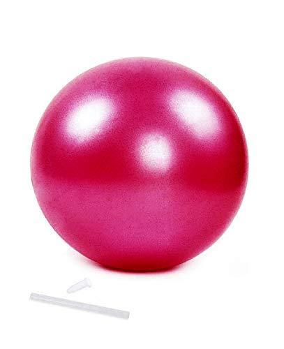 Lovelegis Aufblasbarer Fitnessball - Gymnastik - 25 cm Durchmesser - Yoga - Pilates - Training - Sport - Fitness - Bewegung - Massage - Gleichgewicht - Haltung - Rosa - Weihnachtsgeschenkidee