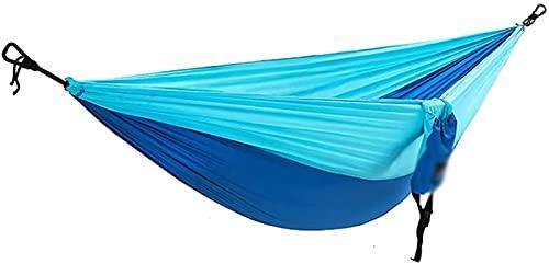 Hamaca Doble portátil portátil Cama de Swing de Hamaca de Nylon Liviana para Interiores y al Aire Libre Camping Travel Patio de Playa (Color: D) Leo (Color : B)