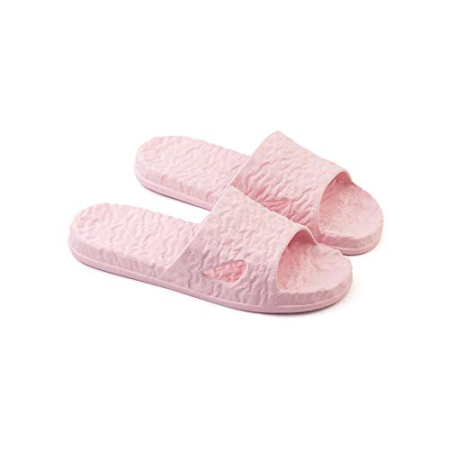ZZLHHD Ciabatte per Massaggio ai Piedi,Soft Bottom Comfortable Couple Sandals, Non-Slip Wear-Resistant Massage Slippers-Shallow Powder_43-44,Sandali per Massaggio con Digitopressione