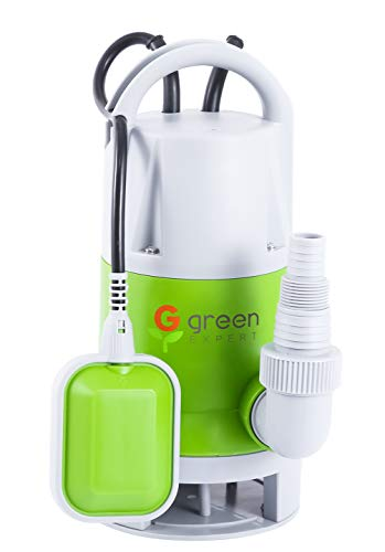 Green Expert 1/4HP Portable Sump Pump Submersible Max 2113GPH High Flow with Tethered Float Switch for Automatic Water Removal Suit to Garden Pond Basement Sink Dewatering 25ft Long Power Cord, 203619