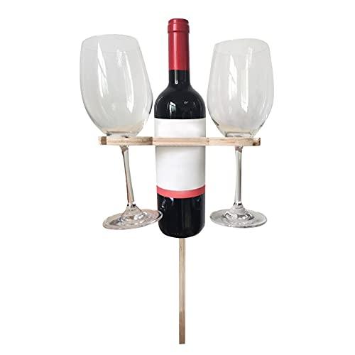WINBST Mesa de vino portátil al aire libre, portátil, mini mesa plegable, mesa de picnic de madera, para jardín, exterior, camping, picnic, playa, 24 x 39 cm
