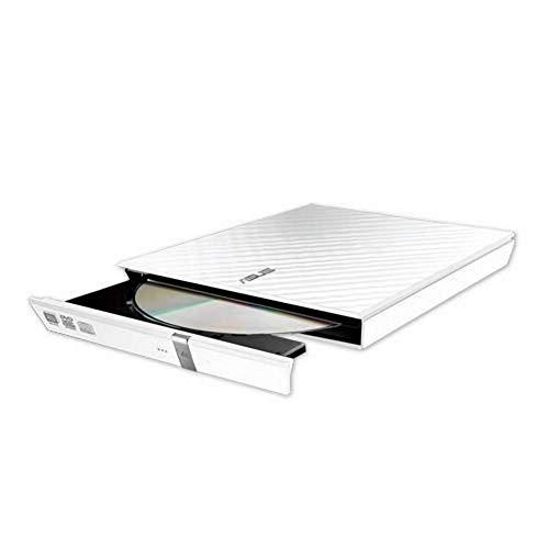 ASUS Lecteur Graveur CD / DVD externe SDRW-08D2S-U LITE Blanc – Graveur DVD x8 ultra-compact, M-Disc supporté, compatibilité Windows et Mac OS