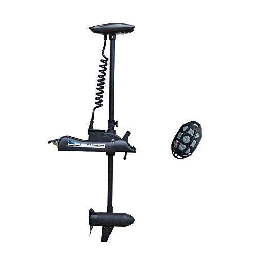 AQUOS Haswing 12V 55LBS 48' Shaft Bow Mount Electric Trolling Motor with Wireless Remote Control, Variable Speed, for Bass Fishing Boat Freshwater and Saltwater Use