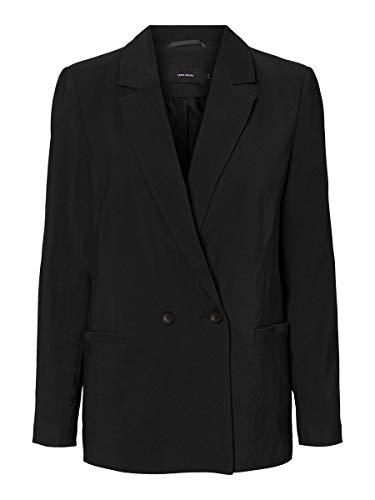 Vero Moda VMEMILY LS Blazer Noos, Schwarz, 38 Donna