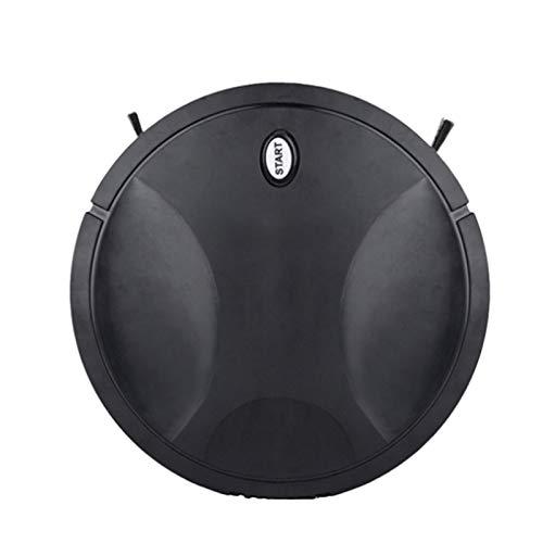 HLPIGF Aspiradora para Oficina Doméstica Recargable Autodirt Dust Smart Mop Esquinas de Piso Barredora de Polvo, Negro