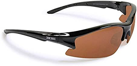 Epoch 1 Black Golf Sport Motorcycle Sunglasses Black with Amber Lens