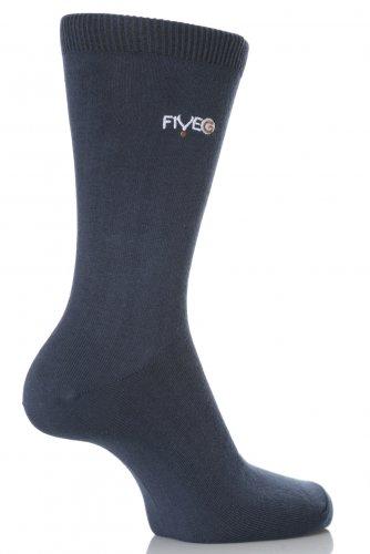 FiveGHerren Socken Blau Denim