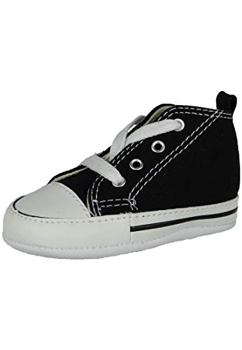 Converse Baby Boys First Star High Top Sneaker, Black, 3 Infant