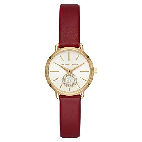 Michael Kors Damen Analog Quarz Uhr mit Leder Armband MK2751